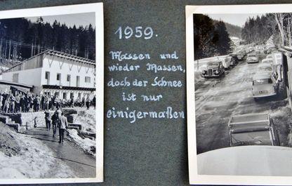 Andrang auf den Polsterlift im Winter 1959