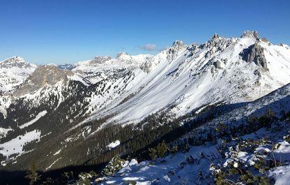 Ausblick auf die Griesmauer im Winter