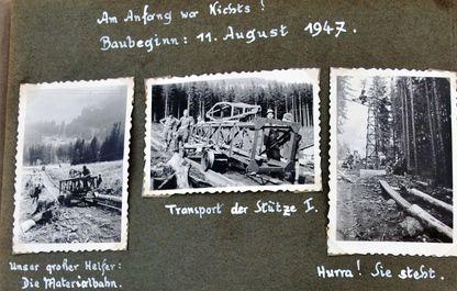 Fotografisch dokumentiert: der Baubeginn am 11. August 1947