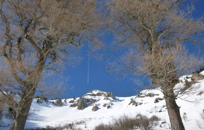 Blick auf das Polsterkar im Winter