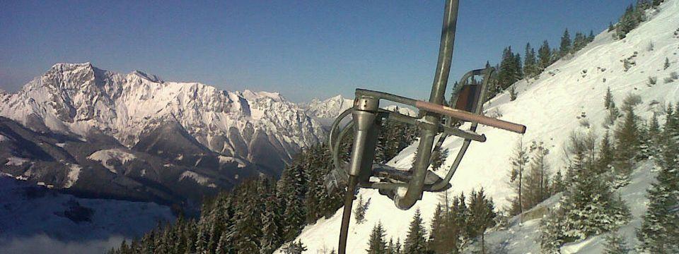 Auch im Winter ein Vergnügen - die Fahrt auf dem Polsterlift